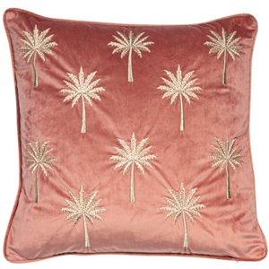 Miami Palm Velvet Cushion