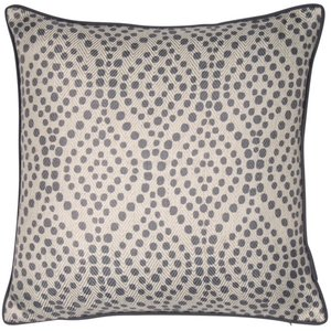 Grey Spot Pattern Cushion