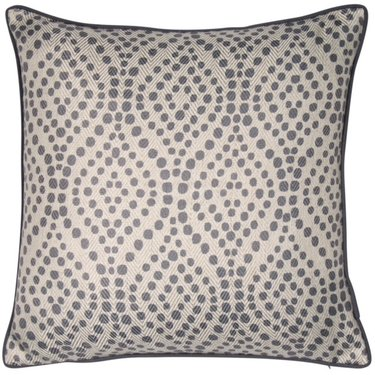Level 1 Accessories Grey Spot Pattern Cushion