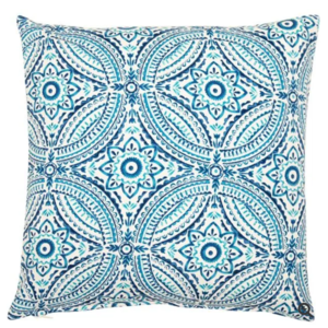 Azure Tile Print Outdoor Cushion