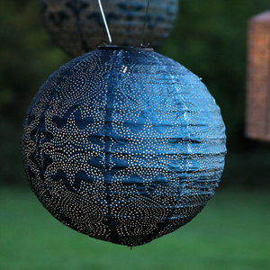 Blue Solar Lantern Globe