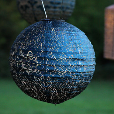 Level 2 Accessories Blue Solar Lantern Globe
