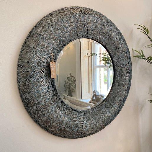 Furniture - UK & Euro Round Metal Wall Mirror