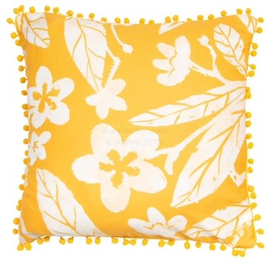 Level 1 Accessories Yellow Floral Cushion