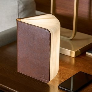 Mini Smart Book Light - Brown leather