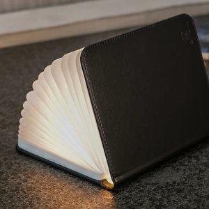 Large Smart Book Light - Black Leather