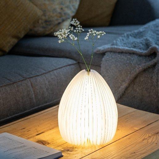Level 1 Accessories Smart Vase Lamp - Walnut