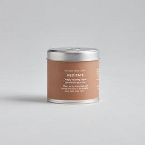 Retreat Meditate Candle Tin