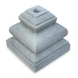 Grey Stone Parasol Base