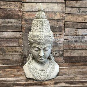 Stoneware Buddha Head