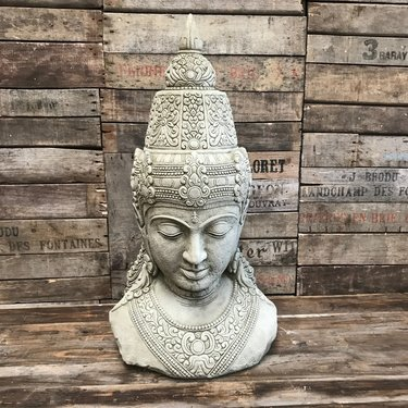 Level 1 Accessories Stoneware Buddha Head