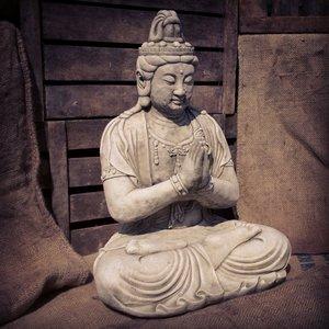 Stoneware Praying Goddess