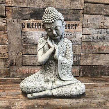 Level 1 Accessories Stoneware Restful Flower Buddha
