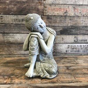 Stoneware Sleeping Buddha - Large
