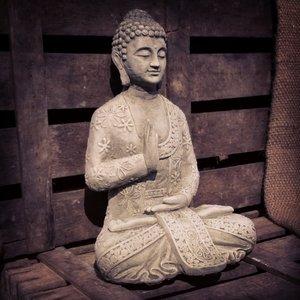 Stoneware Meditating Buddha