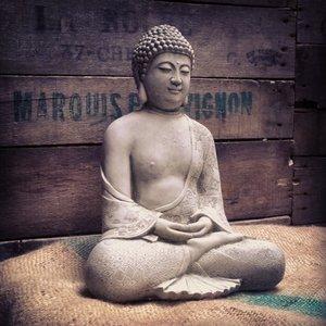 Stoneware Robe Buddha