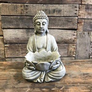 Stoneware Tealight Buddha