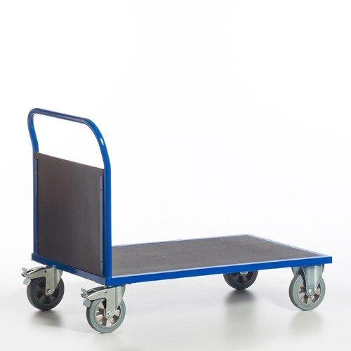 ROLLCART Zwaarlast platformwagen met 1 kopwand