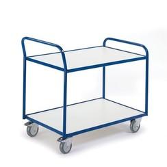 ESD tafelwagen met 2 laadvlakken en duwbeugel
