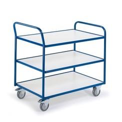 ESD tafelwagen met 3 laadvlakken en duwbeugel