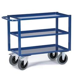 Werkplaatswagen met vloeistofdicht werkblad (3 laags)