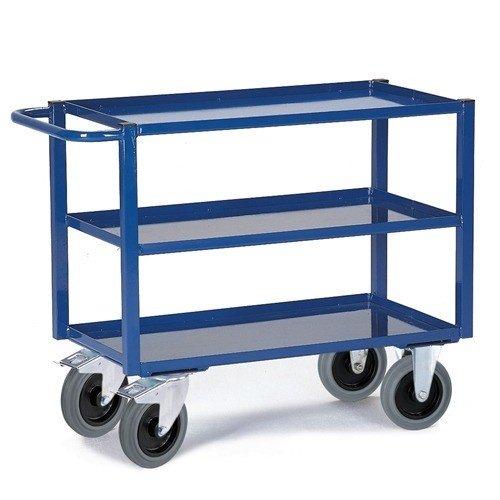 ROLLCART Werkplaatswagen met vloeistofdicht werkblad (3 laags)