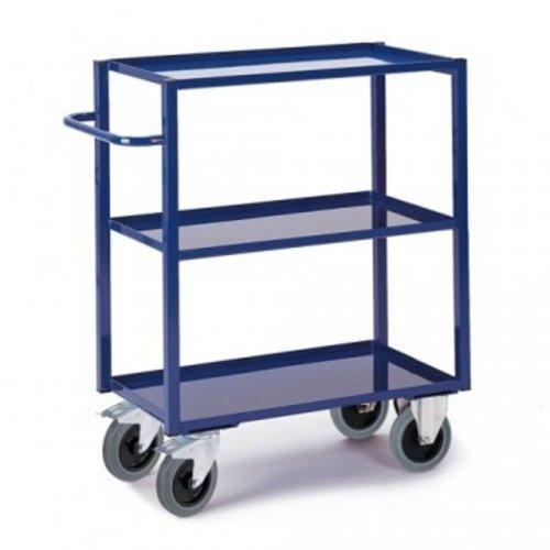 ROLLCART Werkplaatswagen met vloeistofdicht werkblad (3 laags- hoog)