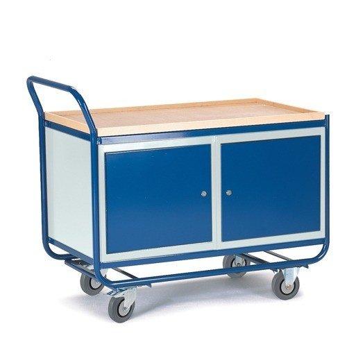ROLLCART Werkplaatswagen montagewagen met twee stalenkasten