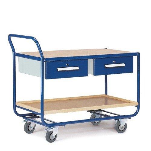 ROLLCART Werkplaatswagen montagewagen met twee laden