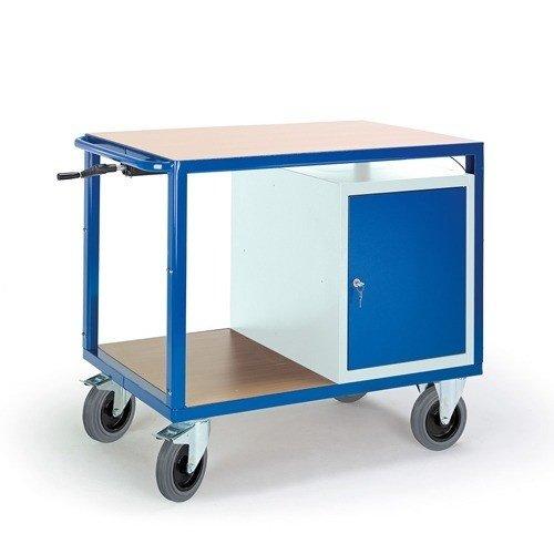 ROLLCART Werkplaatswagen met stalen kast (in hoogte verstelbaar)