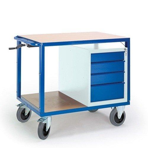 ROLLCART Werkplaatswagen met ladenkast (in hoogte verstelbaar)