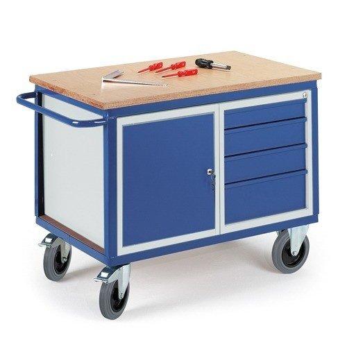 ROLLCART   Werkplaatswagen met laden- en stalen kast