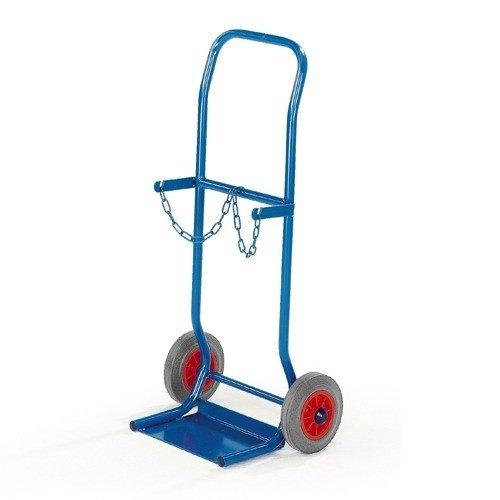 ROLLCART Gasflessenwagen op volrubber banden voor 2x10 ltr.