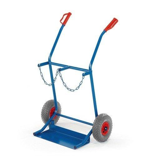ROLLCART Gasflessenwagen op volrubber banden voor 2x20 ltr.