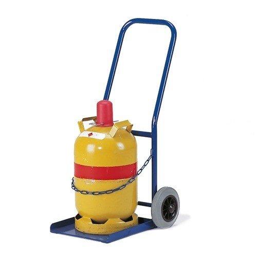 ROLLCART Gasflessenwagen op volrubber banden voor propaanfles