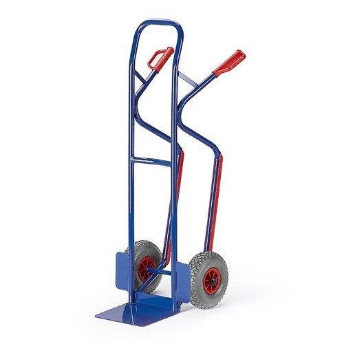 ROLLCART Steekwagen op volrubber banden met glijstrippen