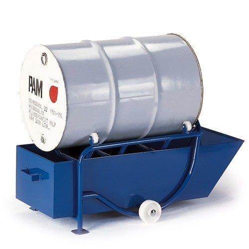 ROLLCART Vatenkantelaar met 208 ltr. opvangbak/kunststof rollers