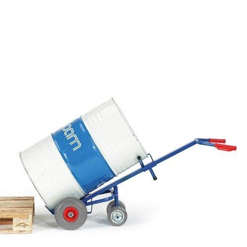 ROLLCART Vatensteekwagen met 2 steunwielen en volrubber banden