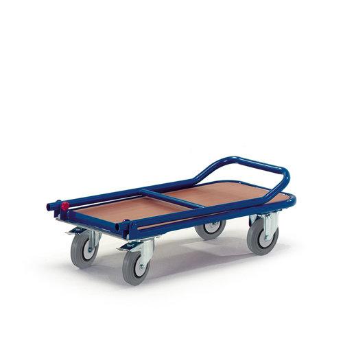 ROLLCART Platformwagen met opklapbare duwbeugel