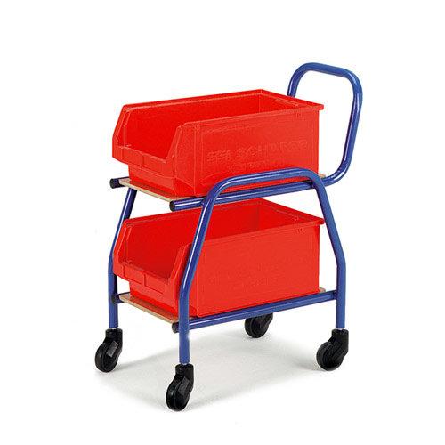 ROLLCART Bijzet-Magazijnbakkenwagen