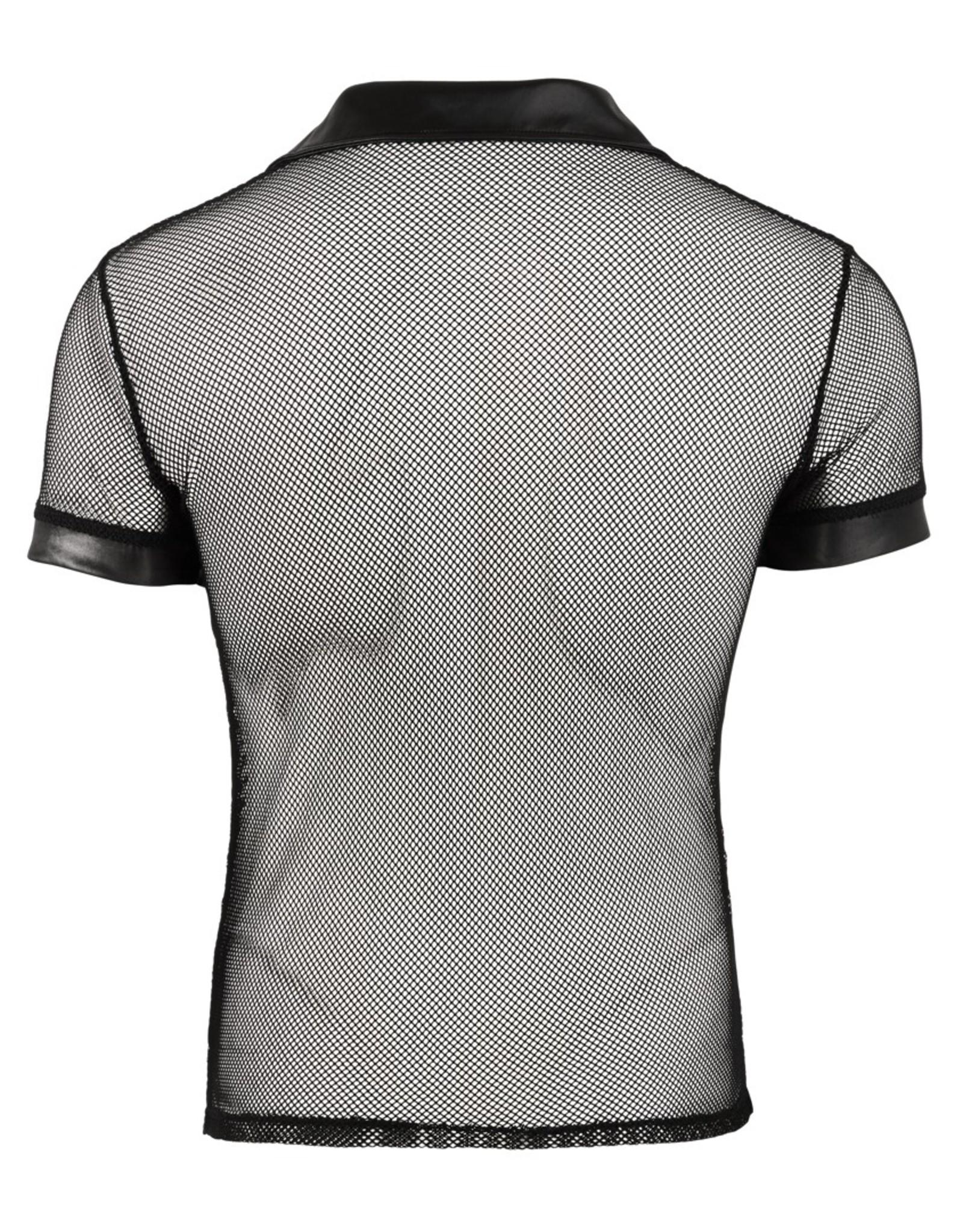 Svenjoyment Net shirt met kraag