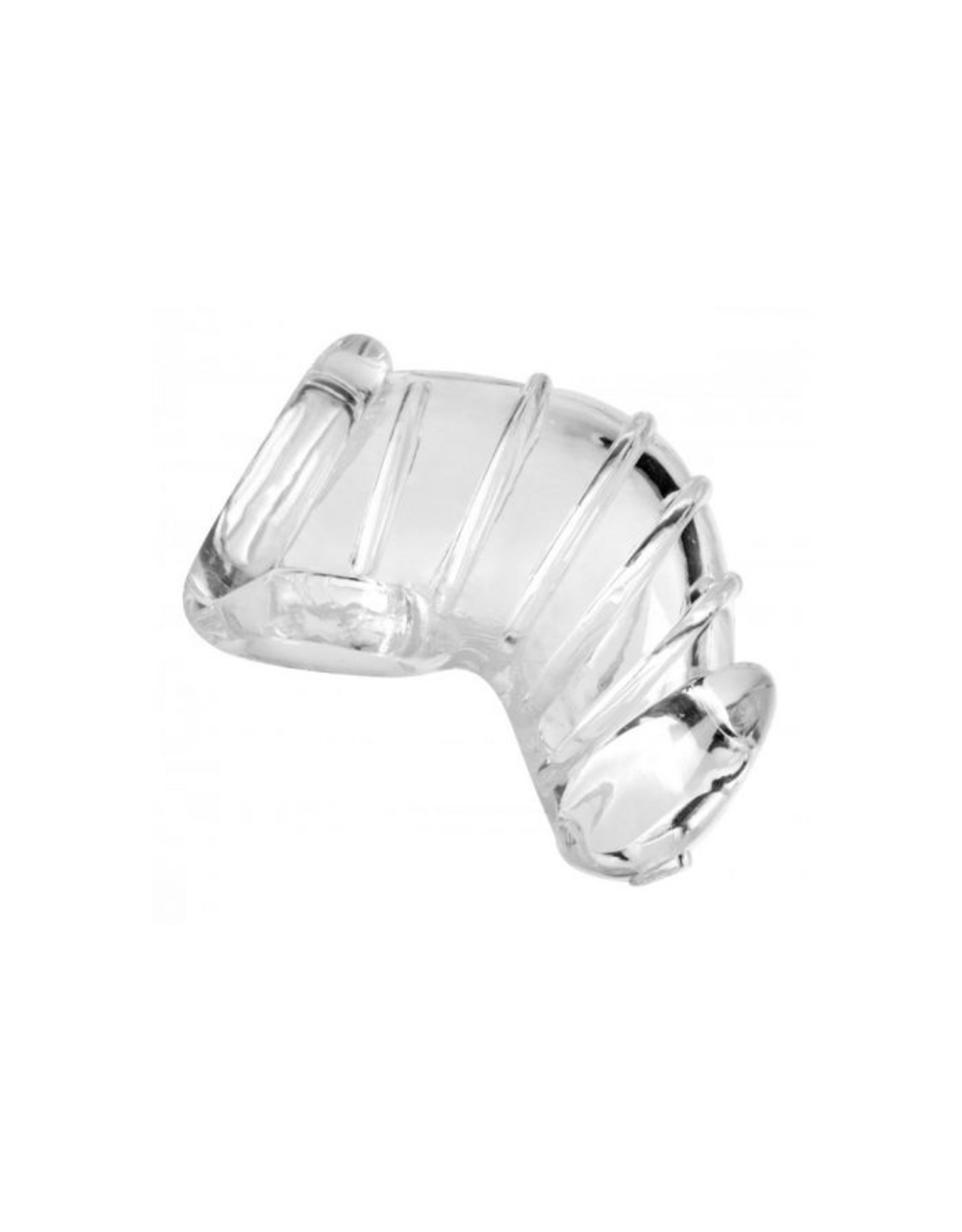 Master series Detained soft body chastity cage transparant