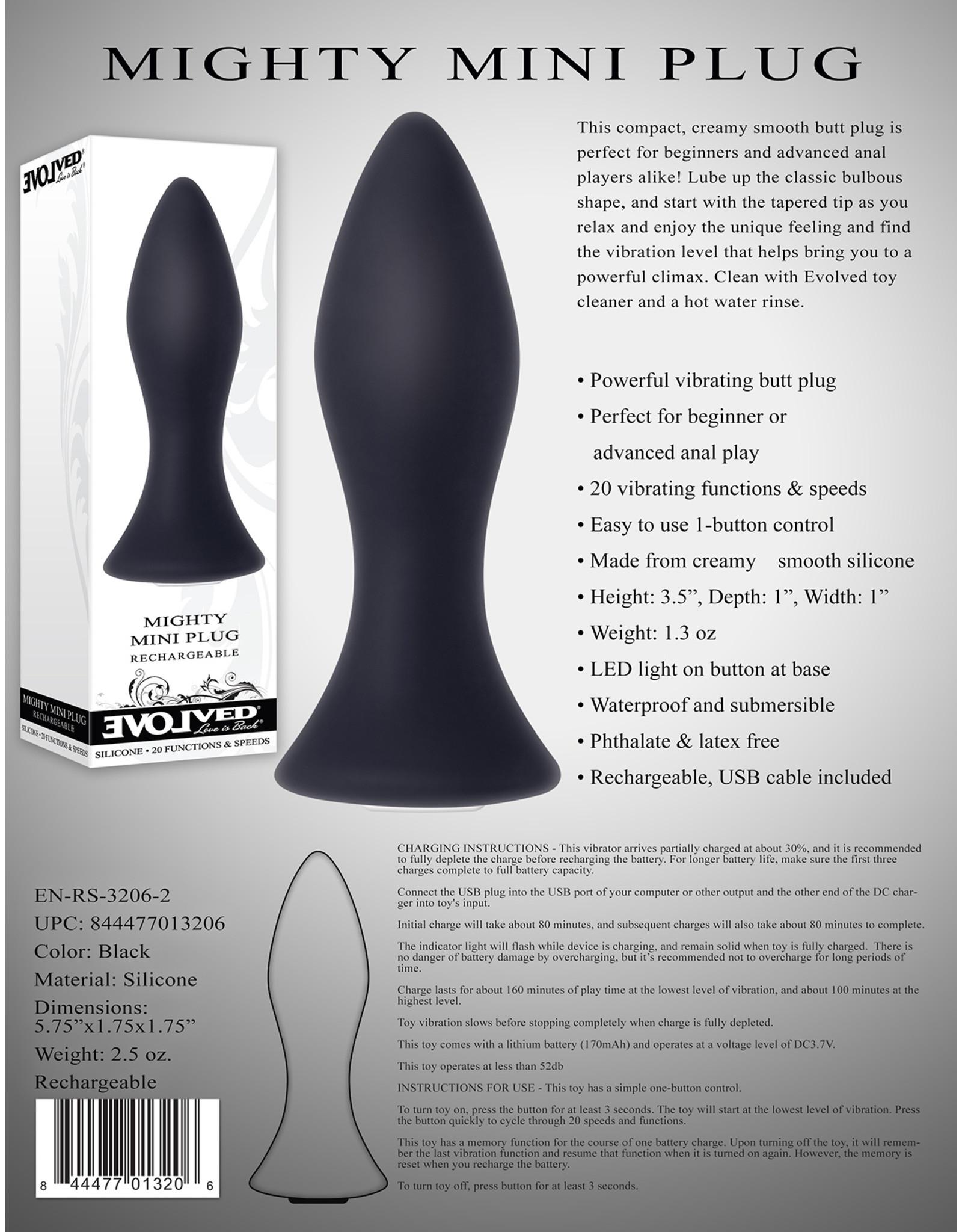 Evolved Novelties Mini Butt Plug - Black