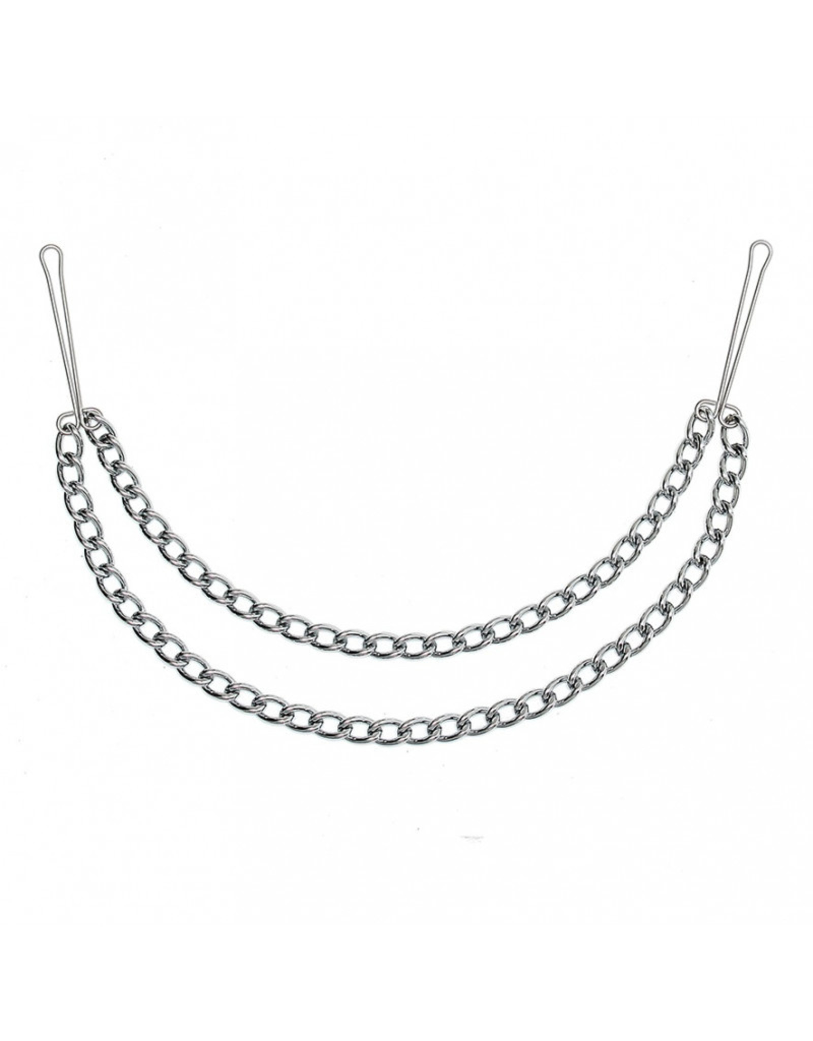 Nipple clamps with double chain