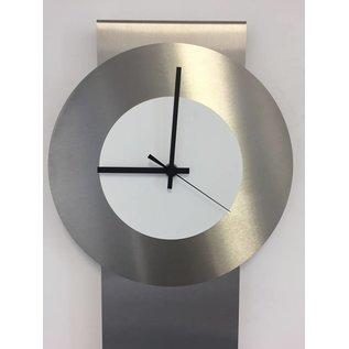 Klokkendiscounter Wandklok Pendulum White