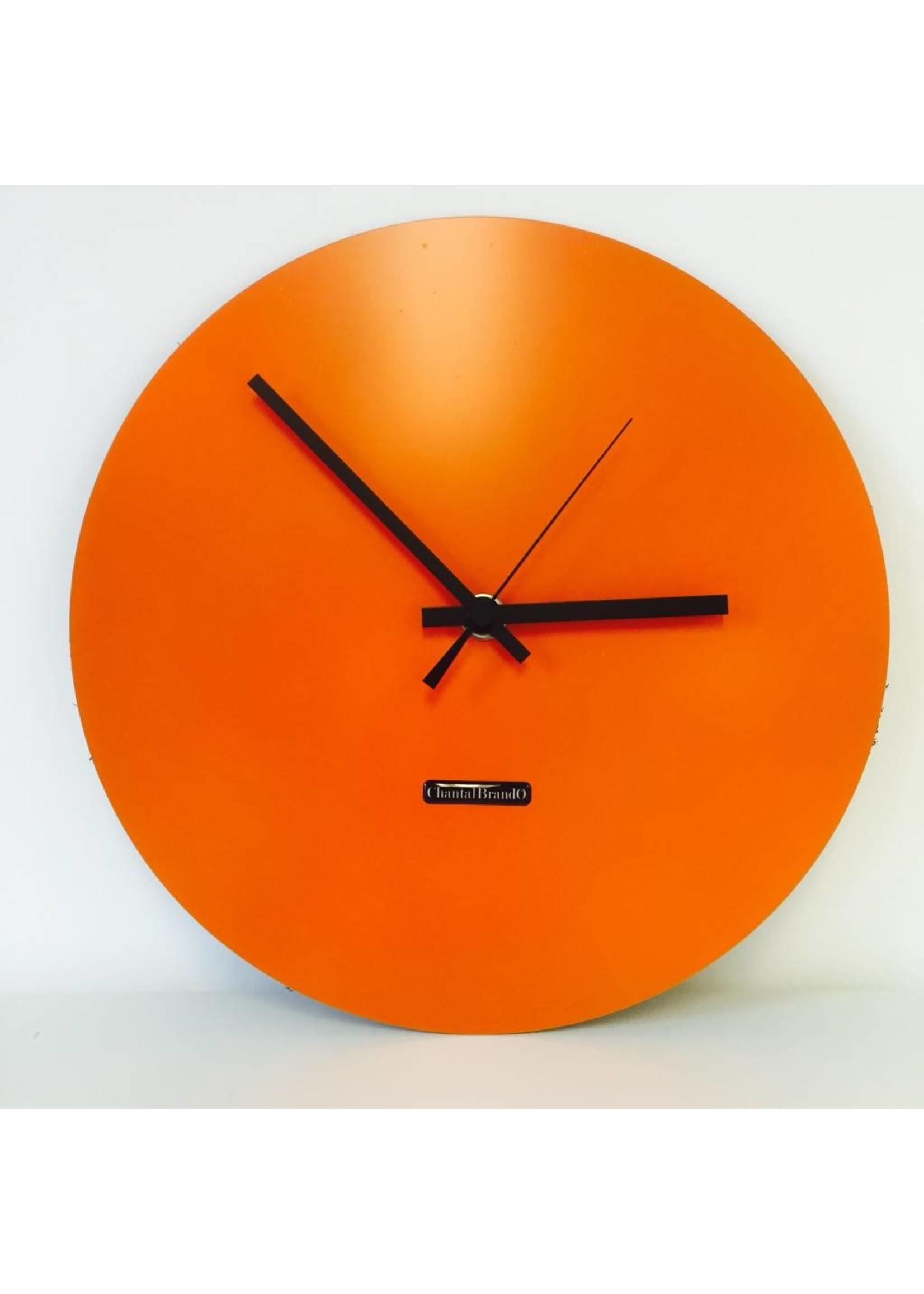 Klokkendiscounter Oranje Wandklok RVS