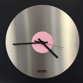 Klokkendiscounter Wandklok TOPAZ Black and Pink