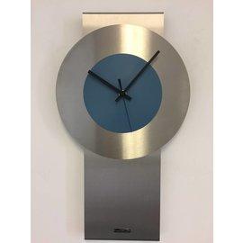 Klokkendiscounter Wanduhr Pendel Stahl Blue Design