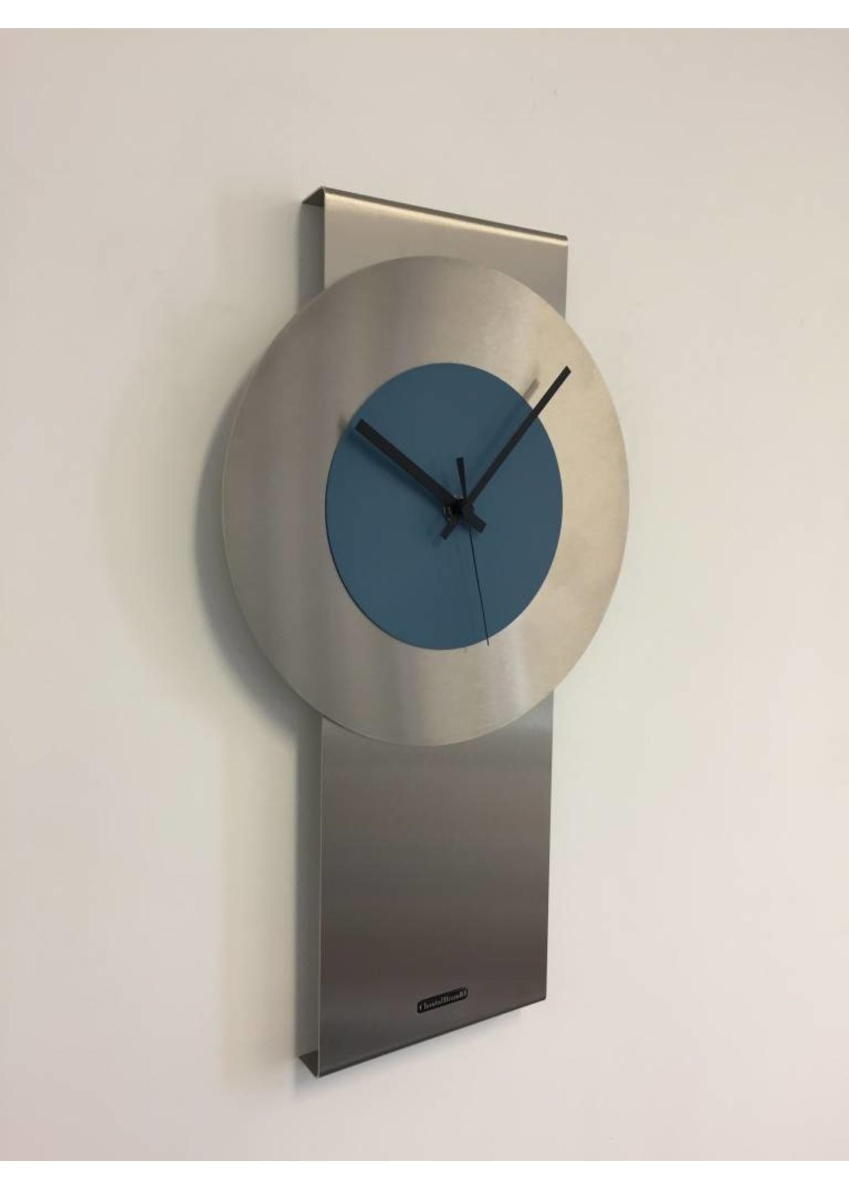 Klokkendiscounter Wandklok Pendulum Steel-Blue Design