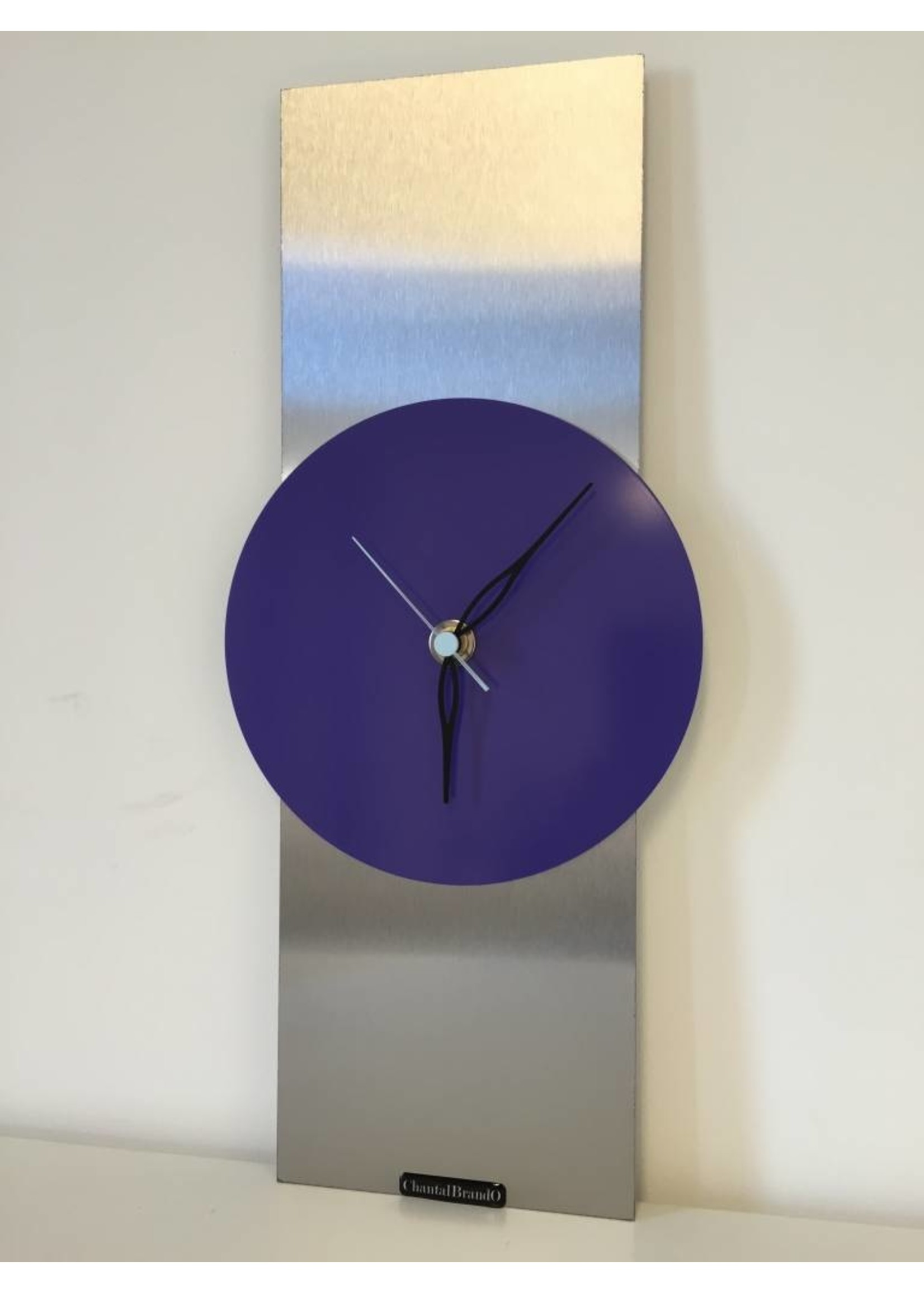 Klokkendiscounter Wandklok RVS Purple Haze